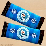 FREE Printable Frozen Olaf Candy Bar Wrappers