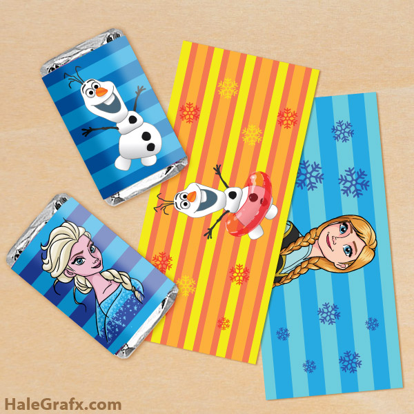 FREE Printable Frozen Mini Candy Bar Wrappers