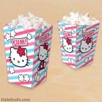 FREE Printable Hello Kitty Popcorn Box