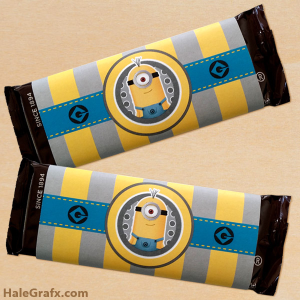 minion candy bar wrap large FREE Printable Minion Candy Bar Wrappers