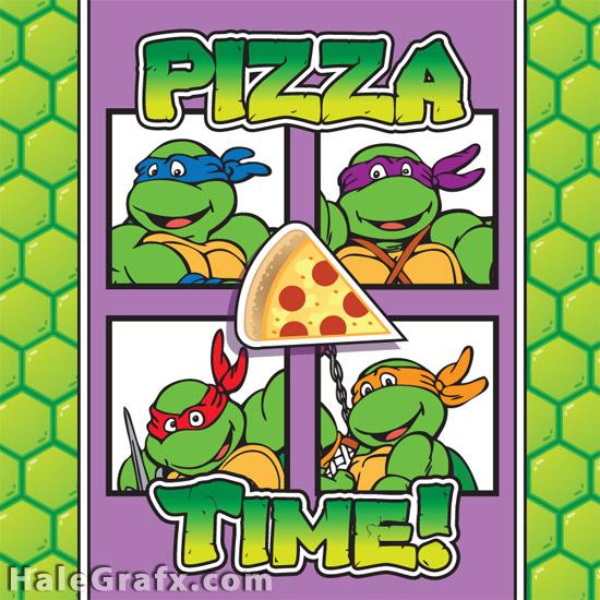 کاور جعبه پیتزای لاک پشت های نینجا