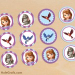 FREE Printable Sofia the First Cupcake Toppers