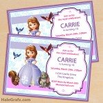 FREE Printable Sofia the First Birthday Invitation Pack
