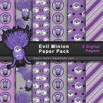 FREE Despicable Me Evil Minions Digital Paper Pack