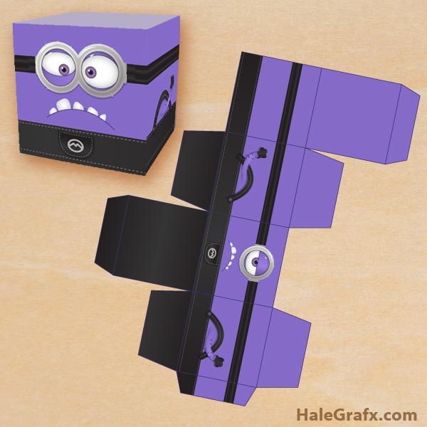 FREE Printable Despicable Me Evil Minion Treat Box