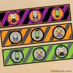 FREE Printable Halloween Minions Water Bottle Labels