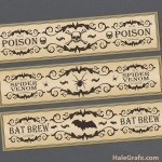 FREE Printable Halloween Potion Water Bottle Labels