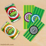 FREE Printable Retro Ninja Turtles Mini Candy Bar Wrappers