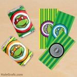 FREE Printable Retro Ninja Turtles Mini Candy Bar Wrappers
