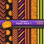 FREE Halloween Digital Paper Pack 1