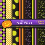 FREE Halloween Digital Paper Pack 2