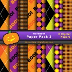 FREE Halloween Digital Paper Pack 3
