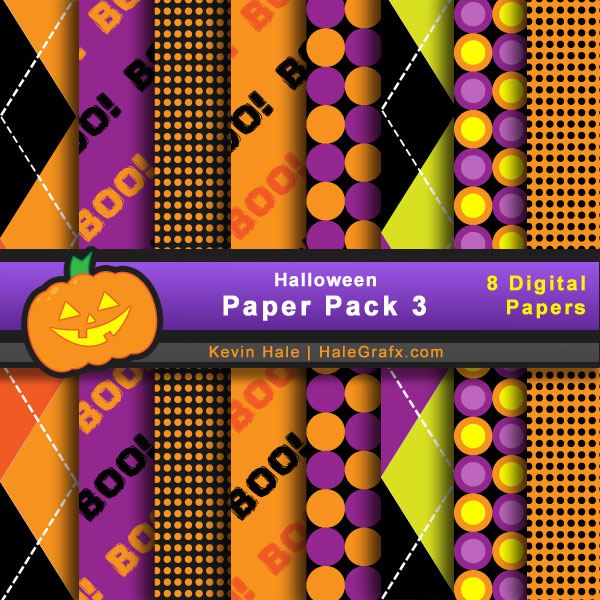 FREE Halloween Digital Paper Pack 3