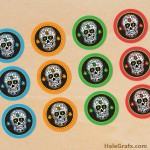 FREE Printable Day of the Dead Cupcake Toppers