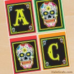 FREE Printable Day of the Dead Sugar Skull Banner
