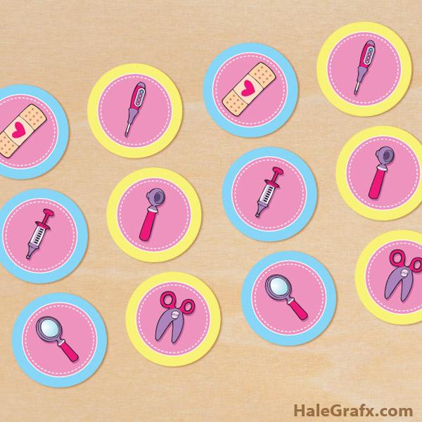 FREE Printable Disney Doc McStuffins Cupcake Toppers