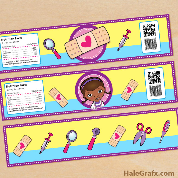 Geeky image within doc mcstuffins printable labels