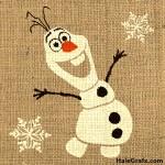 FREE Printable Frozen Olaf Burlap Art