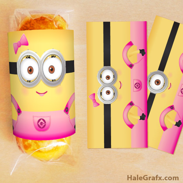 girl minion twinkie wrapper FREE Printable Despicable Me Girl Minion Twinkies Wrappers