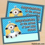 FREE Printable Despicable Me Minion Baby Arrival Card