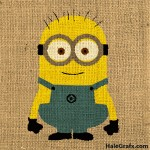 FREE Printable Despicable Me Minion Burlap Art