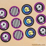 FREE Printable Halloween Nightmare before Christmas Cupcake Toppers