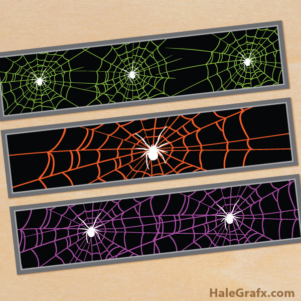 FREE Printable Halloween Spider Web Water Bottle Labels