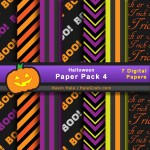FREE Halloween Digital Paper Pack 4