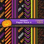 FREE Halloween Digital Paper Pack 4
