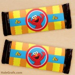 FREE Printable Sesame Street Elmo Candy Bar Wrappers