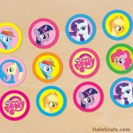 FREE Printable My Little Pony Cupcake Toppers
