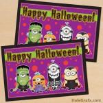 FREE Printable Minion Halloween Card