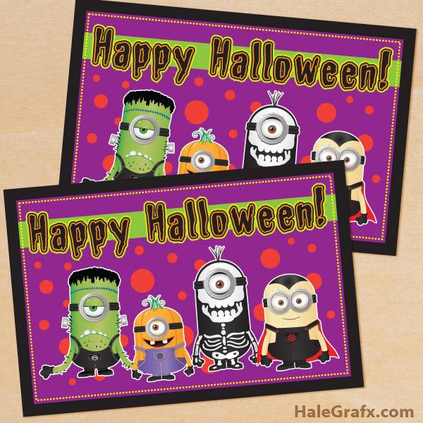 Printable Minion Halloween Card