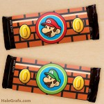 FREE Printable Super Mario Bros. Candy Bar Wrappers