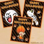 FREE Printable Super Mario Bros. Themed Halloween Posters