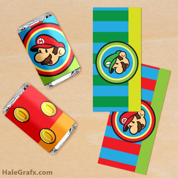 mario mini candy wrappers FREE Printable Super Mario Bros. Mini Candy ...