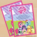 FREE Printable My Little Pony Birthday Invitation Set