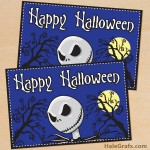 FREE Printable Nightmare Before Christmas Halloween Card