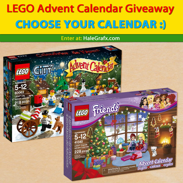 LEGO Christmas Advent Calendar Giveaway 2014