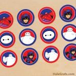 FREE Printable Big Hero 6 Cupcake Toppers