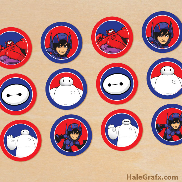 FREE Printable Big Hero 6 Cupcake Toppers