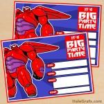 FREE Printable Big Hero 6 Baymax Birthday Invitation