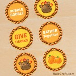 FREE Printable Thanksgiving Coasters