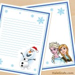 FREE Printable Frozen themed Stationery Set