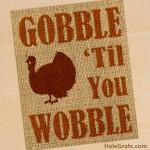 FREE Printable Thanksgiving Burlap Art