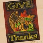 FREE Printable Thanksgiving Chalkboard Art