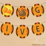 FREE Printable Round Thanksgiving Banner