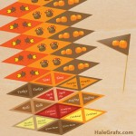 FREE Printable Thanksgiving Toothpick flags
