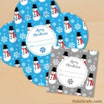 FREE Printable Christmas Snowman Pattern Gift Card Holders