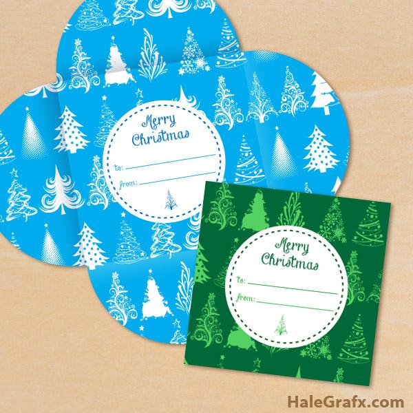 FREE Printable Christmas Tree Pattern Gift Card Holders